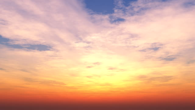 beautiful sunset loop 014 - red cloud sky stock videos & royalty-free footage