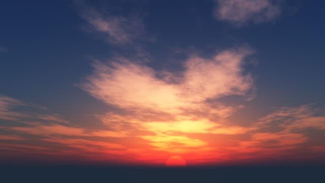 vidéos et rushes de coucher de soleil magnifique boucle 045 - crépuscule