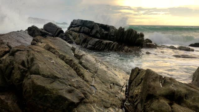 beautiful sunset on the beach of kalim phuket thailand, 4k. - microscopic animal stock videos and b-roll footage