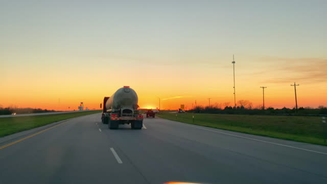 beautiful sunset on the highway - contrasts stock videos & royalty-free footage