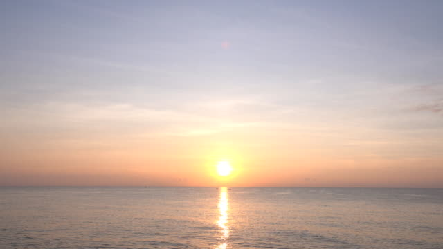 beautiful sunset over the sea - sunset stock videos & royalty-free footage