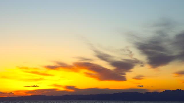 beautiful sunset over the sea - satoyama scenery stock videos & royalty-free footage