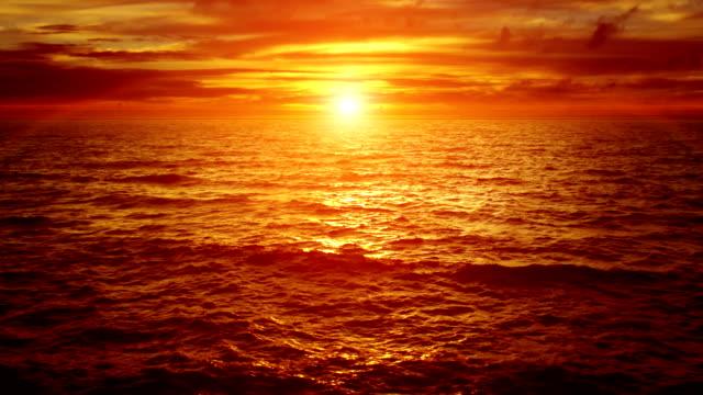 beautiful sunset. slow motion - horizon stock videos & royalty-free footage