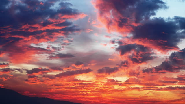 beautiful sunset - cloudscape stock videos & royalty-free footage