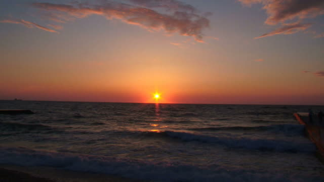 beautiful sunset - seascape stock videos & royalty-free footage