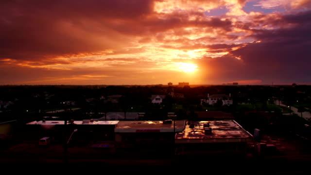 beautiful sunset - horizon stock videos & royalty-free footage