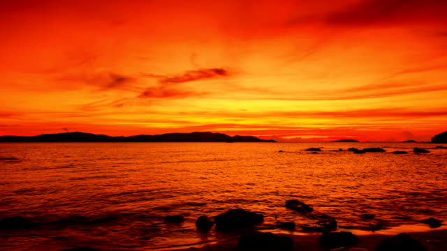 美しい夕日 - チョークの跡点の映像素材/bロール