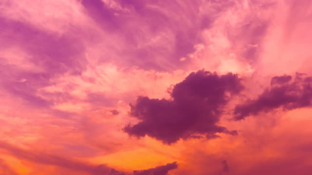 beautiful sunset - red cloud sky stock videos & royalty-free footage