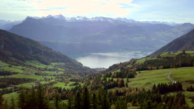 beautiful swiss mountain view - lake lucerne stock videos & royalty-free footage