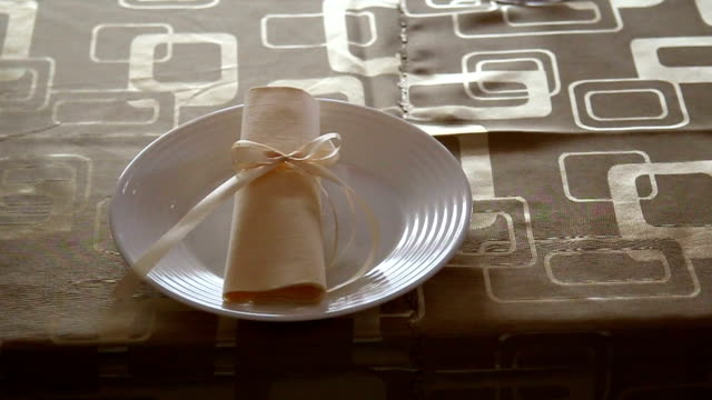 beautiful table setting - napkin stock videos & royalty-free footage