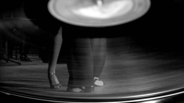 beautiful tango on a gramophone record - tango dance stock videos & royalty-free footage