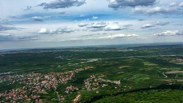 Beautiful Time Lapse from Avala Tower in Belgrade Serbia
