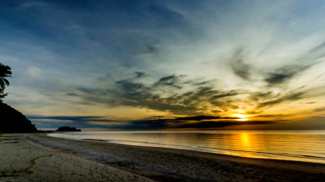 beautiful time lapse sunrise over sea - seascape stock videos & royalty-free footage
