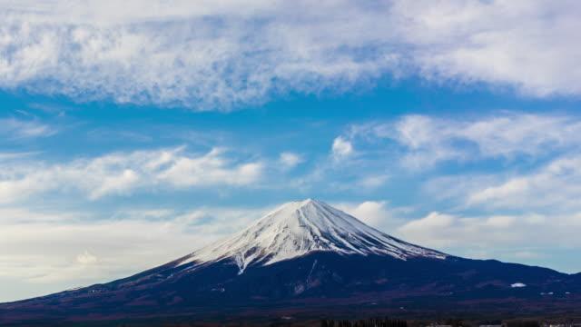 beautiful timelapse of mt fuji - shizuoka prefecture stock videos and b-roll footage