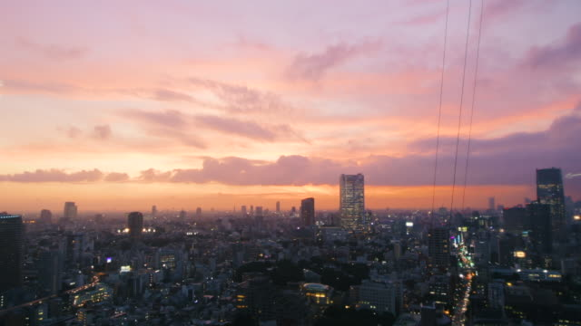 beautiful tokyo sunset - dusk stock videos & royalty-free footage