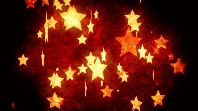 vídeos de stock e filmes b-roll de bela rodar estrelas loop - mudar de forma