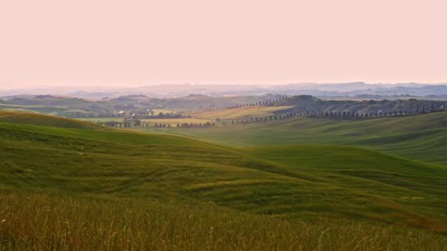 DS 美しいトスカーナの田園地帯で風