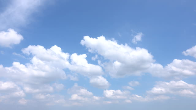 beautiful universally cloudscape background, time lapse - blue stock videos & royalty-free footage
