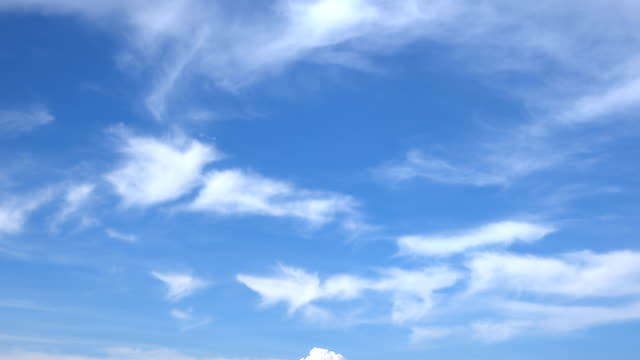 vídeos de stock e filmes b-roll de beautiful universally cloudscape background, time lapse - paisagem com nuvens