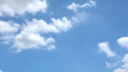 Beautiful Universally Cloudscape background, Time lapse.