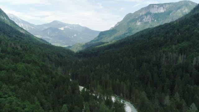 beautiful valley in european alps - mountain range stock videos & royalty-free footage