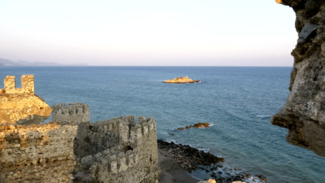 Beautiful view from Medieval Castle in the Mediterranean coast