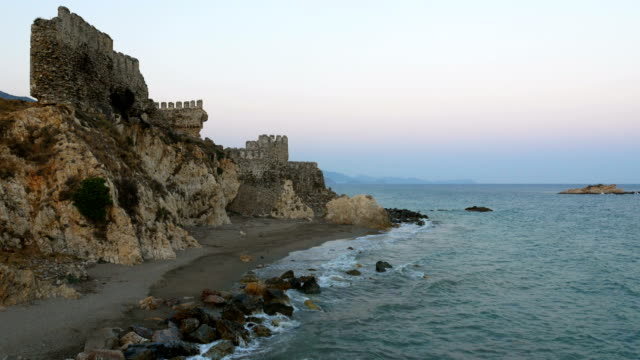 Beautiful view from Medieval Castle in the Mediterranean coastline