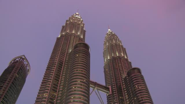 Beautiful view of Petronas Twin Towers - Kuala Lumpur, Malaysia