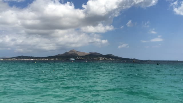 "Beautiful view of ""Platja de Muro"" beach in Mallorca"