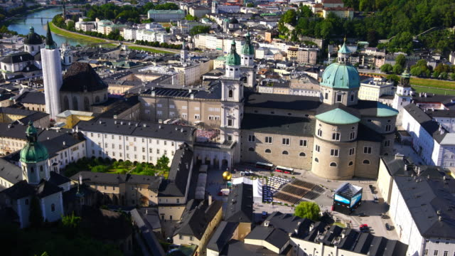 Beautiful view of Salzburg city skyline  in the summer