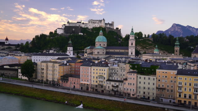 Beautiful view of Salzburg city skyline