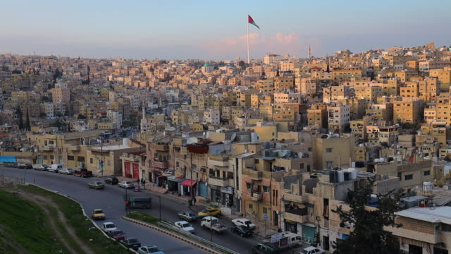 beautiful view of the amman city in jordan. - jordan middle east stock videos and b-roll footage