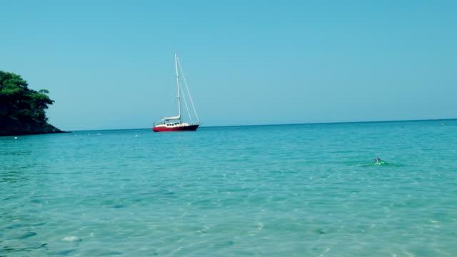 vídeos y material grabado en eventos de stock de hermosa vista del mar turquesa. - fondo turquesa