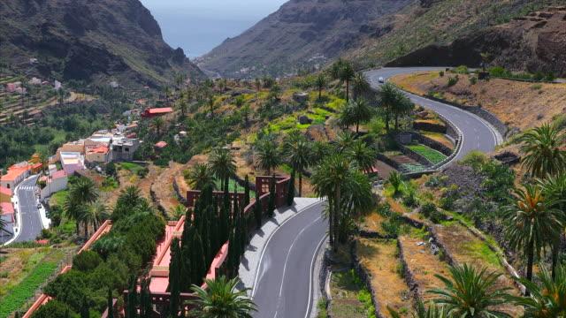 Beautiful view of Valle Gran Rey on Canary Islands La Gomera - Spain