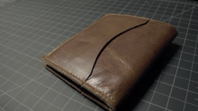 beautiful vintage leather wallet - wallet stock videos & royalty-free footage