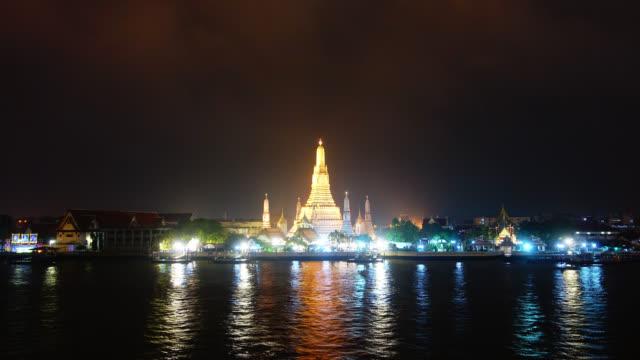 Beautiful Wat arun temple around chao phraya river landmark of bangkok Thailand