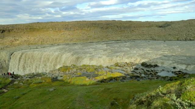 Beautiful waterfall Dettifoss ai summer in Iceland