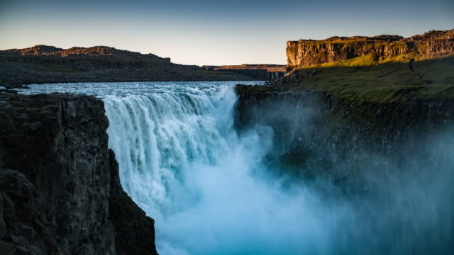 Beautiful waterfall Dettifoss in Iceland