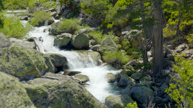 beautiful waterfall filmed at south tahoe lake. - rocky mountains north america stock videos & royalty-free footage