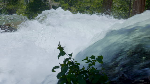 beautiful waterfall filmed at south tahoe lake. - furious stock videos & royalty-free footage
