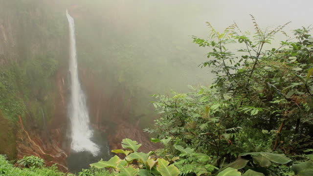 beautiful waterfall hd - costa rica stock videos and b-roll footage