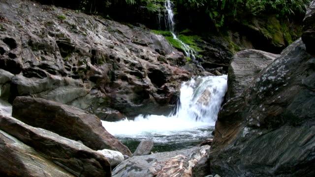 vídeos y material grabado en eventos de stock de hd: hermosa cascada - depresión