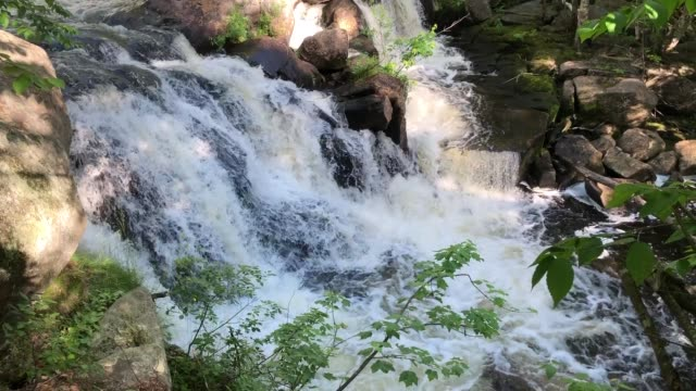 beautiful waterfalls and cascading water in roxbury, maine usa - maine stock videos & royalty-free footage