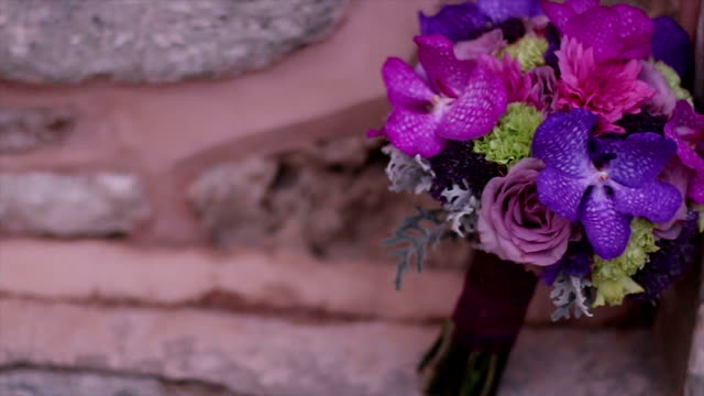 beautiful wedding bouquet - bouquet stock videos and b-roll footage