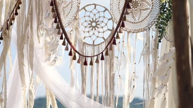 beautiful wedding ceremony set up. - island stock videos & royalty-free footage