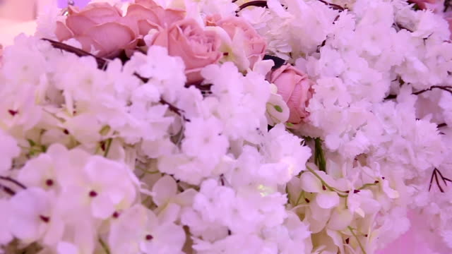 beautiful wedding decoration - wedding reception stock videos and b-roll footage