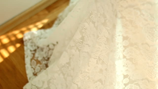 beautiful wedding dress - wedding dress stock videos and b-roll footage