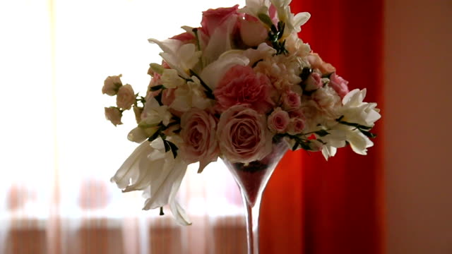 beautiful wedding flower decoration table arrangement - bunch stock videos and b-roll footage