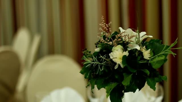 beautiful wedding flower decoration - flower arrangement stock videos & royalty-free footage