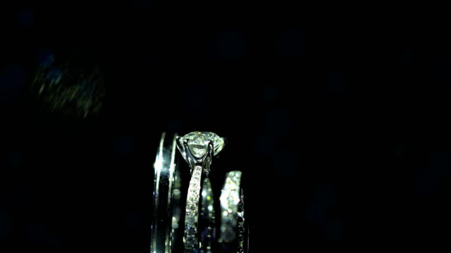 beautiful wedding ring and engagement ring, 4k. - elegance stock videos & royalty-free footage